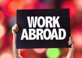Work Abroad card — Stock Photo
