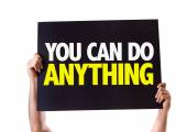 You Can Do Anything! card — Stock Photo