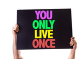 You Only Live Once card — Stock Photo