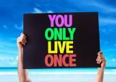 Você só vive uma vez cartão — Fotografia Stock