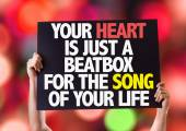 Your Heart Is Just A Beatbox card — Stock Photo