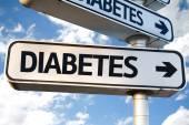 Diyabet yön işareti altı — Stok fotoğraf