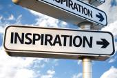 Inspiration direction sign — Stock Photo