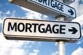 Mortgage direction sign — Stock Photo