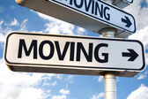 Moving direction sign — Stock Photo