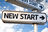 New Start direction sign — Stock Photo