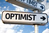 Optimist direction sign — Stock Photo