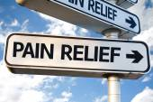 Pain Relief direction sign — Stock Photo