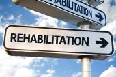 Rehabilitation direction sign — Stock Photo
