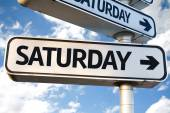 Saturday direction sign — Stock Photo