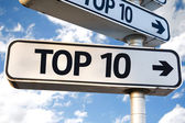 Top 10 direction sign — Stock Photo