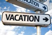 Vacation direction sign — Stock Photo