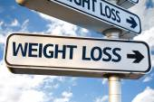 Weight Loss direction sign — Stock Photo