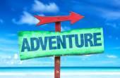 Adventure text sign — Stock Photo