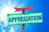 Appreciation text sign — Stock Photo