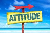 Attitude text sign — Stock Photo