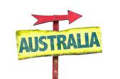 Australia text sign — Stock Photo