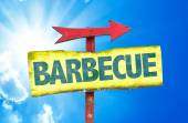 Barbecue text sign — Stock Photo