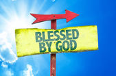 Blessed By God text sign — Stock Photo
