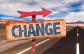 Change text sign — Stock Photo