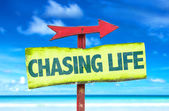 Chasing Life text sign — Stock Photo
