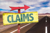 Claims text sign — Stock Photo