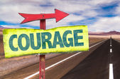 Courage text sign — Stock Photo