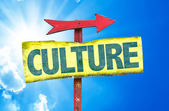 Culture text sign — Stock Photo