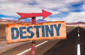 Destiny text sign — Stock Photo