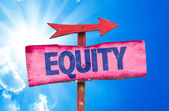 Equity text sign — Stock Photo