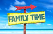Family Time text sign — Stock Photo
