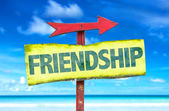 Friendship text sign — Stock Photo