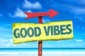 Good Vibes text sign — Stock Photo
