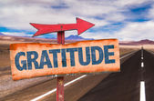 Gratitude text sign — Stock Photo