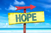 Hope text sign — Stock Photo