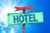Hotel text sign — Stock Photo
