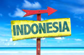 Indonesia text sign — Stock Photo