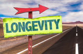 Longevity text sign — Stock Photo