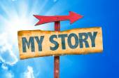 My Story text sign — Stock Photo