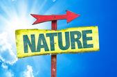 Nature text sign — Stock Photo