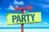 Party text sign — Stock Photo
