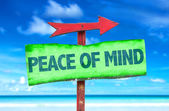 Peace of Mind text sign — Stock Photo