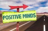Positive Minds text sign — Stock Photo