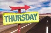 Thursday text sign — Stock Photo
