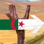 Algeria Flag wooden sign — Stock Photo #73421119