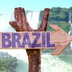 Brazil wooden sign — Stock Photo #73422461