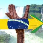 Brazil wooden sign — Stock Photo #73422499