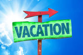 Vacation wooden sign — Stock Photo