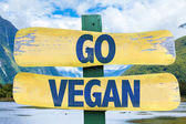 Go Vegan wooden sign — Stock Photo