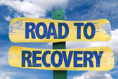 Road to Recovery wooden sign — Stock Photo